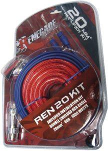 Renegade REN20KIT Audio – Adapter für Kabel (MaleMale, Kabel, Power Adapter, Audio, Ground, Remote, RCA, RCA, Nickel) schwarz, blau, rot