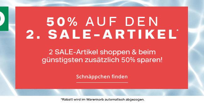 Deichmann Online Shop - 50% auf den 2. Sale-Artikel