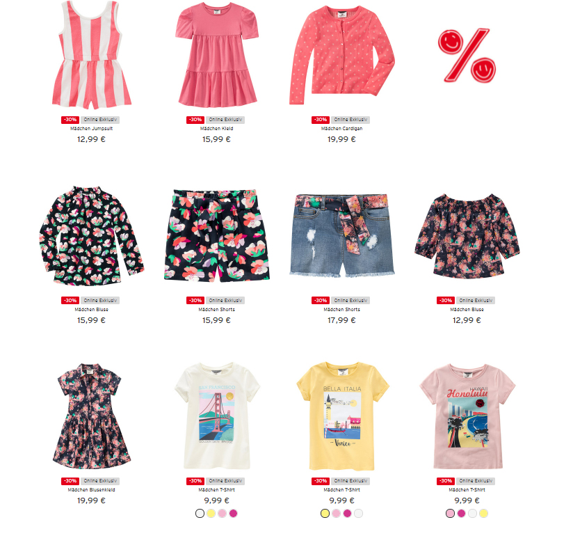 Ernsting's-family-Mädchen-Produkte