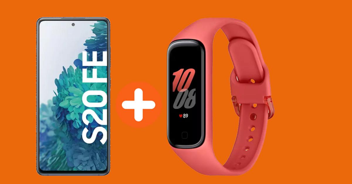 Samsung Galaxy S20 FE und Galaxy Fit2 Fitnesstracker mit Vertrag günstiger als im Einzelkauf