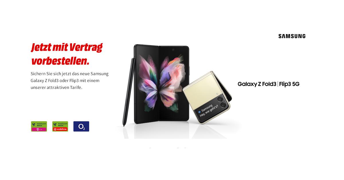 SAMSUNG Galaxy Z Flip3 5G & Samsung Galaxy Z Fold3 5G vorbestellen und einen BMW M440i xDrive Cabrios gewinnen